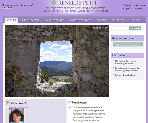 Renelde Petit kinésiologue Besançon
