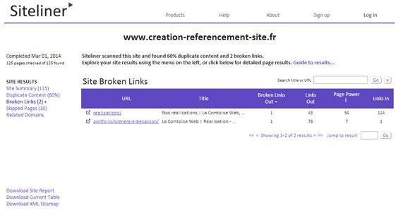 Siteliner La Comtoise Web